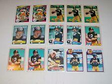 Terry Bradshaw Lot of 15 cards 1979-1984 Pittsburgh Steelers VG/EX/NM HOF