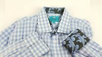 Christian Aujard Men's Striped Blue And White Button Down Shirt Size 2XL