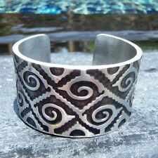 Spiral Mideval Celtic Knot Silver Black Pewter Bracelet Bangle Wristband Cuff