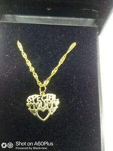 9ct Gold Special Mum Pendant And 25mm Chain