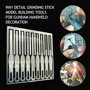 9 in1 Detail Grinding For Gundam Handheld Decoration Stick Model Building Tool
