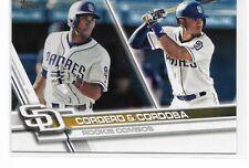 2017 Topps Update Base Card #US276 - Cordero & Cordoba - San Diego Padres