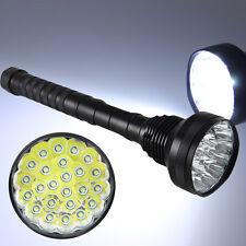 Super Bright 32000LM 24x XML T6 LED Flashlight Torch 26650/18650 Hunting Light