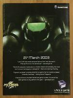 Metroid Prime Gamecube 2002 Vintage Print Ad/Poster Official SAMUS Promo Art 4