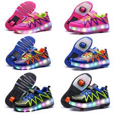 Junge Kinder Led Mädchen Leuchtende Schuhe Mit Rollen Blinkschuhe Sneaker