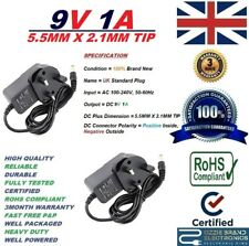 UK Rete Elettrica 9v 1a AC/DC 100-240v AC 50/60hz Power Supply Adattatore modello kdl-091000