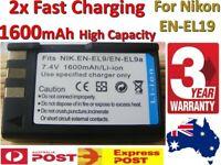 2x High Capacity Battery FOR Nikon EN-EL9 EN-EL9a D5000 D3000 D40 D40X ENEL9