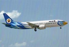 NOK Air Boeing 737-440 HS-DDO Arriving at Phuket Int. Airport 2011 Postcard