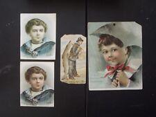 4 SCOTT'S EMULSION VICTORIAN TRADE CARDS & CALENDAR COVER
