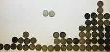 56 Silver threepenny bit Coins from 1872 to 1920 Total Weight 76.66 Grams
