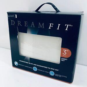 DREAMFIT Degree 3 Pima Cotton Split King Sheet Set Soft Linen [NEW-Open Box]