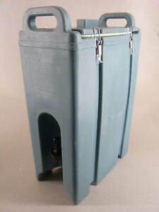 Cambro 500LCD Camtainer Insulated Beverage Dispenser 5 Gallon Hot-Cold Lt Blue