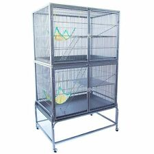 Rat Ferret Cage PetPlanet Cage Deluxe 2 Tiers Ladders Chinchilla Small Pet Home