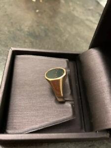 Herren Ring Rotgold 585 mit Heliotrop alt, antik
