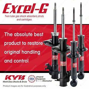 Front + Rear KYB EXCEL-G Shock Absorbers for NISSAN Pulsar N16 FWD Sedan Hatch