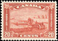 Mint H Canada 1930 F-VF Scott #175 20c King George V Arch Leaf Stamp