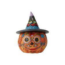 Jim Shore Halloween Day of the Dead Pumpkin Mini 2020 New 6006703