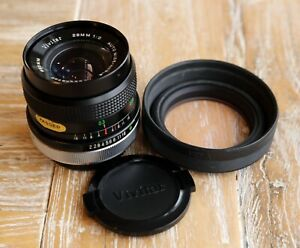 Vivitar 28mm F/2 Wide Angle Prime Lens Canon FD Fit Lens - Near MINT condition