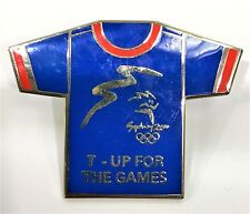 T-UP FOR THE GAMES TEE SHIRT T SHIRT SYDNEY OLYMPIC GAMES 2000 PIN COLLECT #988