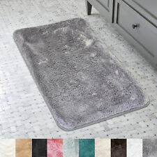 "Bath Rug, Non Skid Back, Soft Faux Fur - St. Lucia Prima 17"" x 24"""