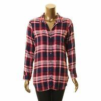 JAK & RAE NEW Women's Taryn Plaid Hi-low Button Down Shirt Top TEDO