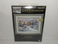 """NOS 2005 Dimensions The Gold Collection """"Winter Memories"""" Cross Stitch Kit 35155"""