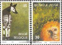 Belgien 2538-2539 (kompl.Ausg.) postfrisch 1992 Zoologischer Garten