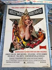 "Hollywood Boulevard 1976 Orig. 1 Sheet Movie Poster 27""x41"" (F/VF) Sexy Thriller"
