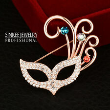 Brooches Pin Wedding Party Fashion Jewelry 2019 Luxury Sexy Fox Mask Crystal