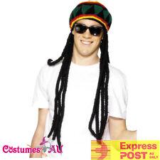 Jamaican Hero Bob Sleigh Hat Wig Rasta Beret Crochet Dreadlocks Headwear Knitted