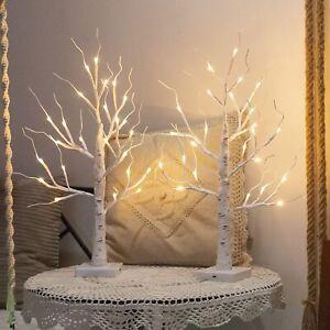 LED Twig Birch Table Tree Light Up Christmas Branch Lamp Desktop Decor Light UK