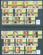 Colombia 1981 Presidents sets 1 to 4 MNH
