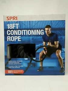 SPRI Conditioning Rope 18ft-Long Battle Rope For High Intensity Exercise