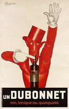 Dubonnet 1930 Cappiello Vintage Liquor French Ad Giclee Canvas Print 25x40