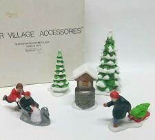 Department 56, Winter Village Accessories, 5 Piece Set