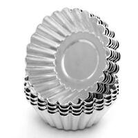 10/50pcs Egg Tart Aluminum Cupcake Cake Cookie Mold Lined Mould Tin Baking Tool