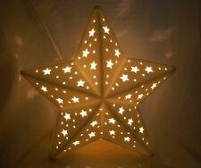 Porzellan Lampe Leuchte Stern Beleuchtung Wohn Dekoration Neu