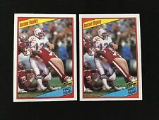 (2) DAN MARINO ROOKIES 1984 TOPPS INSTANT REPLAYS WITH FRED DEAN FOOTBALL CARDS