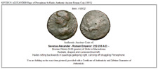 SEVERUS ALEXANDER Rape of Persephone byHades Authentic Ancient Roman Coin i18932