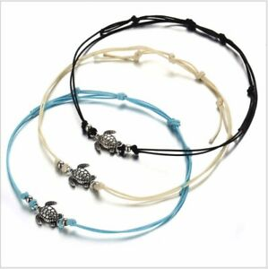 Anklet Bracelet Turtle Beaded Bohemian Anklet Foot Beach Jewelry Cord Lace