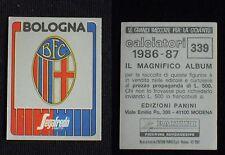 ***CALCIATORI PANINI 1986/87*** SCUDETTO BOLOGNA N.339 - NUOVO!!!