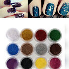 12PCS NEW MIX COLOR GLITTER DUST POWDER SET for Nail Art ACRYLIC TIPS DECORATION