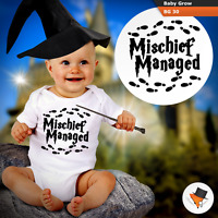 MISCHIEF MANAGED HOGWARTS BABY GROWS HARRY POTTER THEME BODYSUIT VEST BOY GIRL