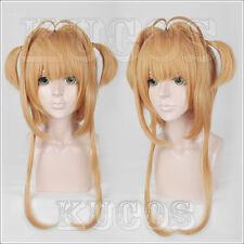 Cardcaptor Sakura Kinomoto Sakura costume Cosplay hair wig +Track +CAP