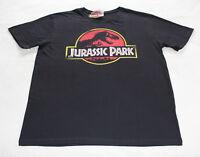 Jurassic Park Logo Mens Black Printed Short Sleeve T Shirt Size 3XL New Genuine