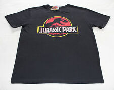 Jurassic Park Logo Mens Black Printed Short Sleeve T Shirt Size 4XL New Genuine