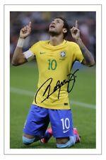 NEYMAR JR BRAZIL WORLD CUP 2018 SOCCER SIGNED AUTOGRAPH PHOTO PRINT