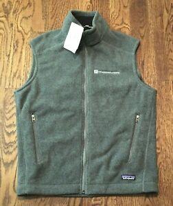 Patagonia Synchilla Fleece Vest Mens Medium Full Zip Gray NWT