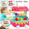 Kids Play House Musical Light Pretend Play Food Plastic Fruit Cart Toy Gift E