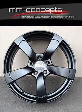18 Zoll DBV Torino Felgen 8x18 ET48 5x112 Alufelge Schwarz ABE für Audi Rotor